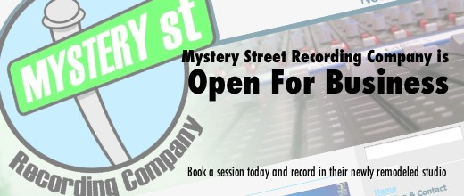 Mystery Street Recording Company is Open For Business